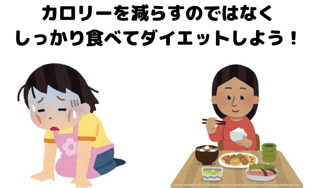 食事制限なしでダイエットする方法。痩せない理由はカロリーを減らしすぎることです。